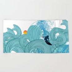 surfing 2 Beach Towel