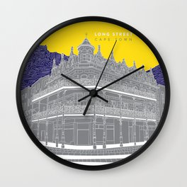 long street, cape town Wall Clock