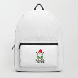 Christmas Is Gnoming Funny Santa Christmas Gnome Christmas Backpack