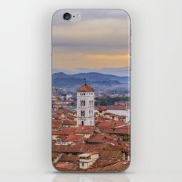 Aerial View Historic Center of Lucca, Italy iPhone Skin