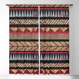 African Tribal Pattern No. 125 Blackout Curtain
