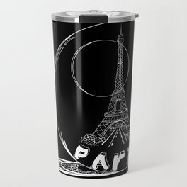 Paris city in a glass ball . Home decor, art prints Travel Mug