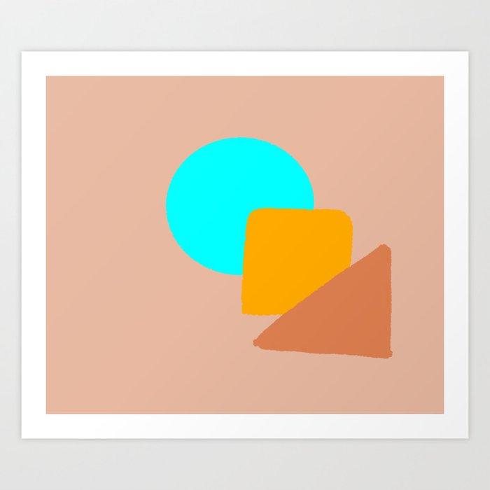 figuras geometricas Art Print