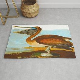 Brown Pelican Illustration Rug