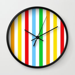 Stripes (Parallel Lines) - Red Blue Green Pink Wall Clock