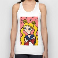 sailormoon Tank Tops featuring Sailormoon! by poetickles