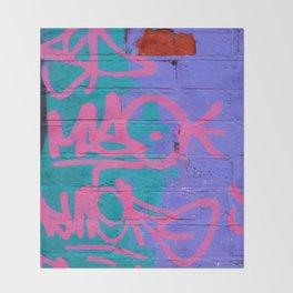 Graffiti Style Street Art - by Dominic Joyce Throw Blanket