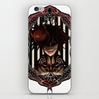 kingdom hearts iPhone & iPod Skins featuring Kingdom Hearts Nightmare before christmas Sora by Shade-Umbra