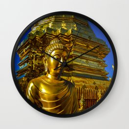 Doi Suthep Golden Buddha Wall Clock