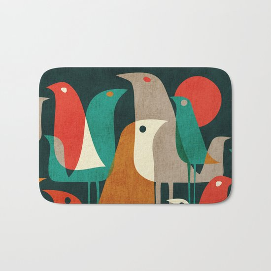Flock of Birds Bath Mat