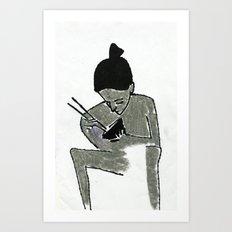 eating Art Print
