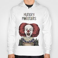 pennywise Hoodies featuring Pennywise is hungry by Andres Eladio