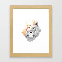 If I roar (The King Lion) Framed Art Print