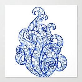 Blue ultramarine sea flourishes Canvas Print