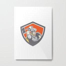 Viking Raider Barbarian Warrior Axe Shield Metal Print
