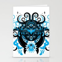 cthulu Stationery Cards featuring Lovecraftian Cosmic Horror by BlanzyDesign
