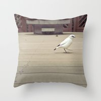birdy Throw Pillows featuring Birdy by imonster