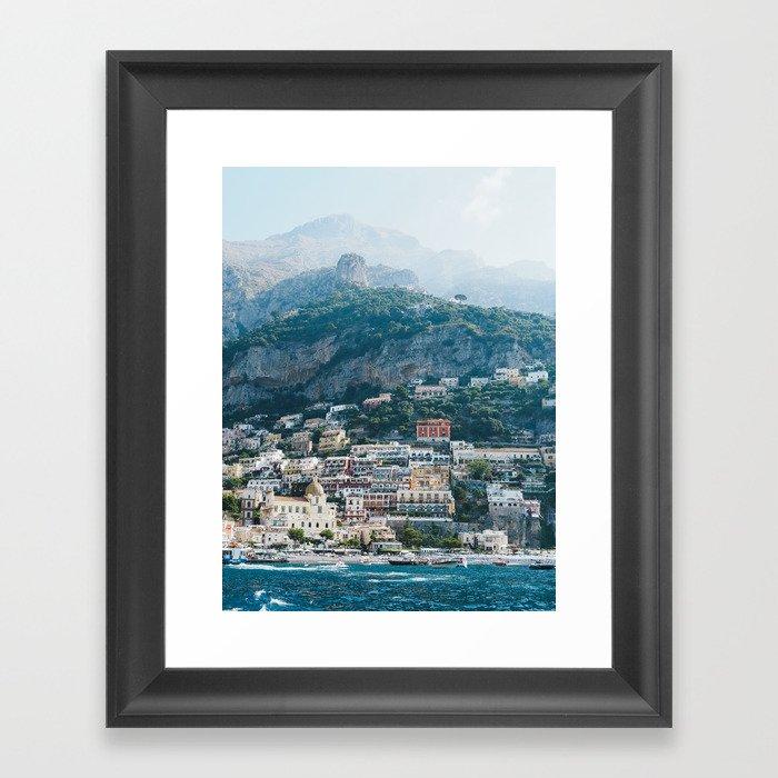 Leaving Positano Framed Art Print