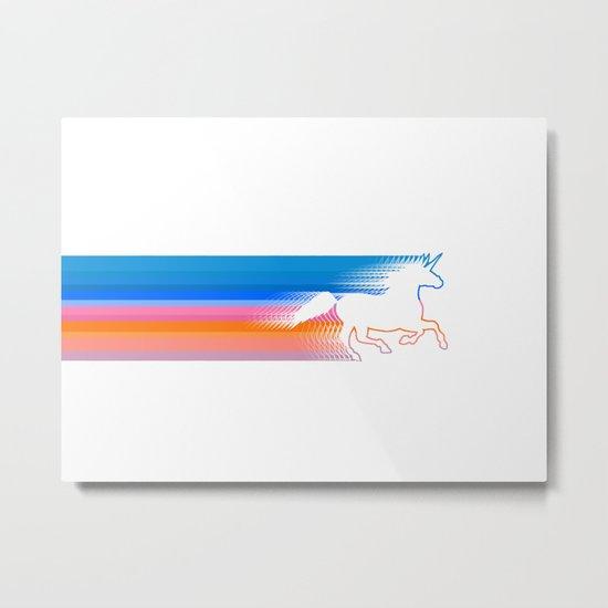 Unicorn Run Metal Print