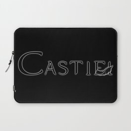 Castiel with Feather Black Laptop Sleeve