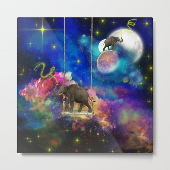 Space elephants Metal Print