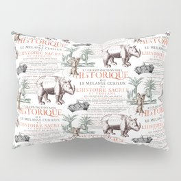 Royal Rhinoceros Pillow Sham
