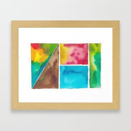 180811 Watercolor Block Swatches 10  Colorful Abstract  Geometrical Art Framed Art Print