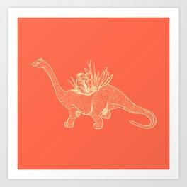 Dinoplant Art Print