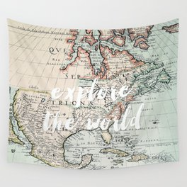 explore the world Wall Tapestry