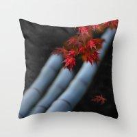 bamboo Throw Pillows featuring Bamboo by Anne Seltmann