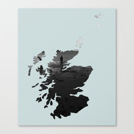 'Wandering' Scotland map Canvas Print