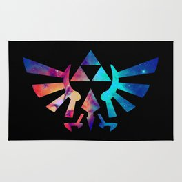 The Legend of Zelda Triforce Multicolored Stars Rug