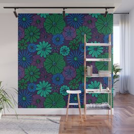Jewel Flowers Wall Mural