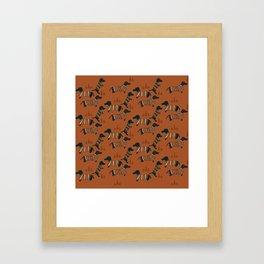 Hot Dogs Framed Art Print