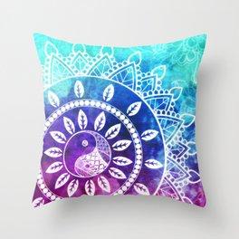 Divine Dream Pink Purple Blue Mandala Throw Pillow