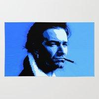 u2 Area & Throw Rugs featuring Achtung Bono by JR van Kampen