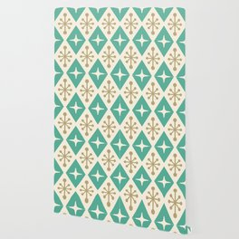 Mid Century Modern Atomic Triangle Pattern 105 Wallpaper