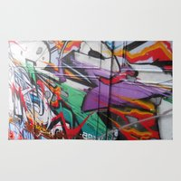 grafitti Area & Throw Rugs featuring Grafitti by Anna Mundy