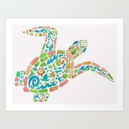 Surf Turtle Art Print