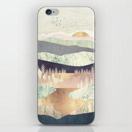 Golden Spring Reflection iPhone Skin