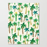 palm Canvas Prints featuring palm by Ceren Aksu Dikenci