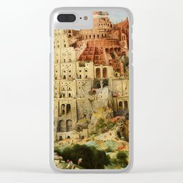 Tower Of Babel Pieter Bruegel The Elder Clear iPhone Case