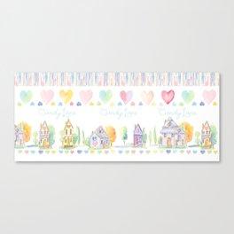 Little Houses: Candy Lane Canvas Print