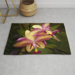Hawaiian Sunrise Orchid Rug