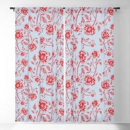 Rose Block Print Blackout Curtain