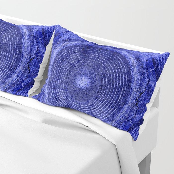 Blue music speaker Pillow Sham