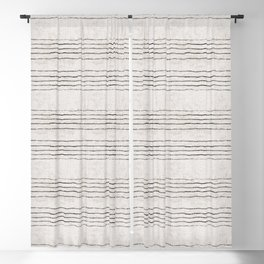 LINEN STRIPE RUSTIC Blackout Curtain