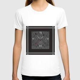 Watch. Black and white pattern . T-shirt