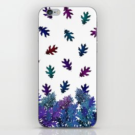 Blue Purple Leaves iPhone Skin