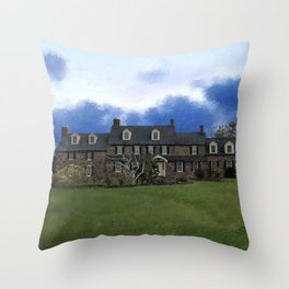Pearl S. Buck House Throw Pillow